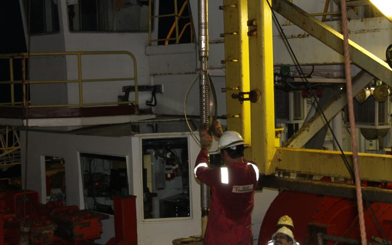 Exp359.25thOct. Downhole measurements! A small lab in a hole !!!