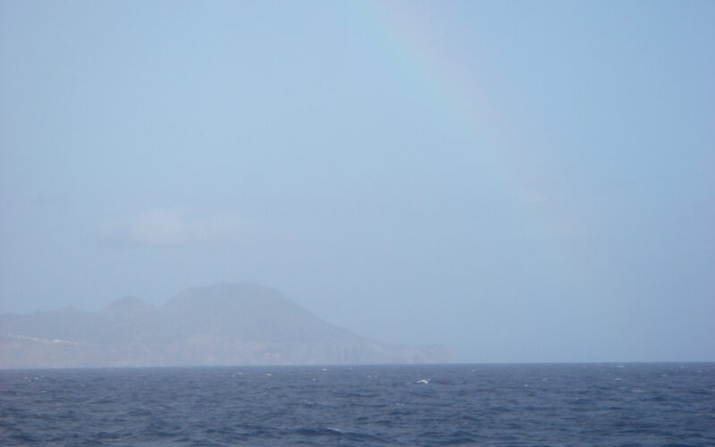 Day 3 @ Sea: Greeted by a rainbow!