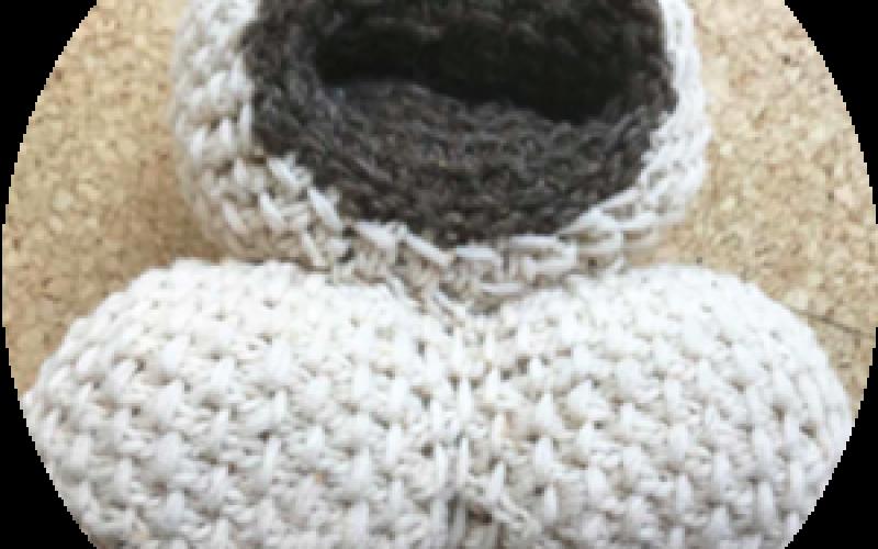 Microfossil knitting patterns