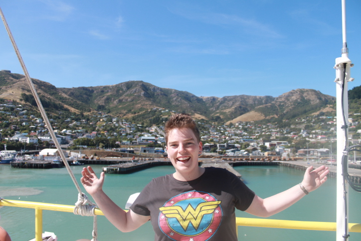 Heading out of lyttleton harbour