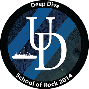 patch artwork for the 2014 School of Rock Deep Dive