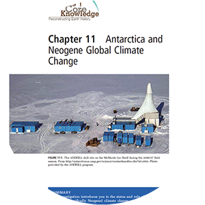 thumbnail image of chapter 11 Antarctica and Neogene Global Climate Change