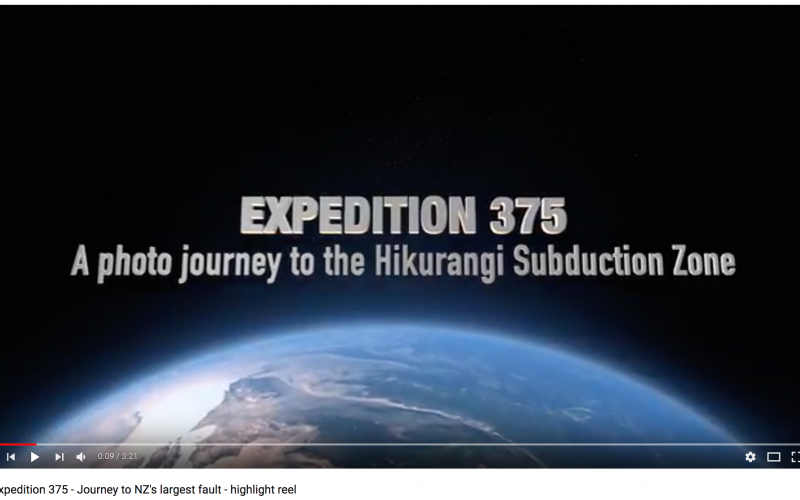 Exp 375 – Photo Journey to NZ's Largest Fault
