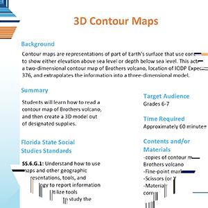 3D contour map activity thumbnail image