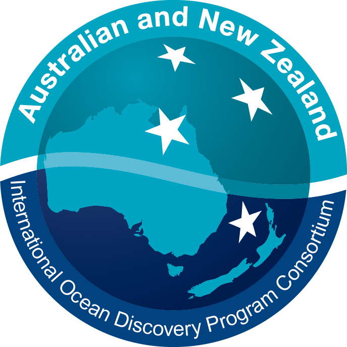 logo for the Australian and New Zealand offices of the International Ocean Discovery Program