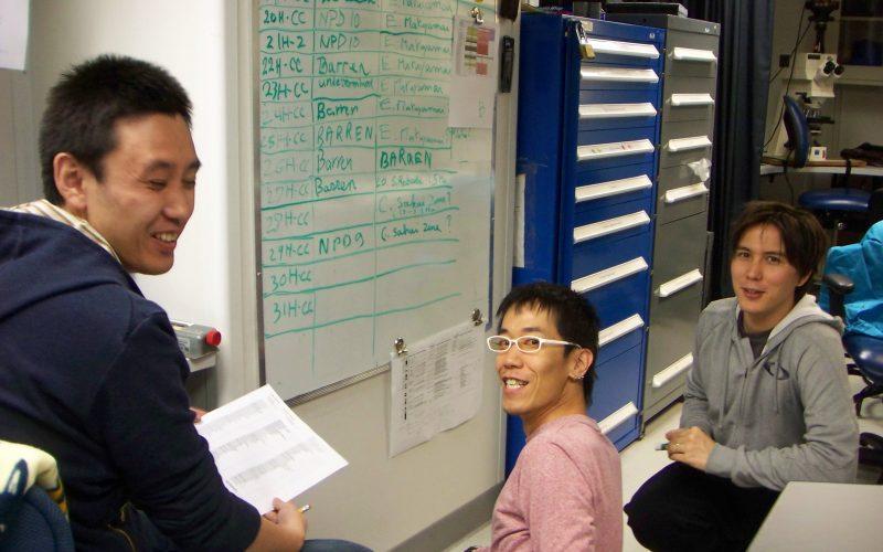 Geochem lab: Heavy seas, tiny samples