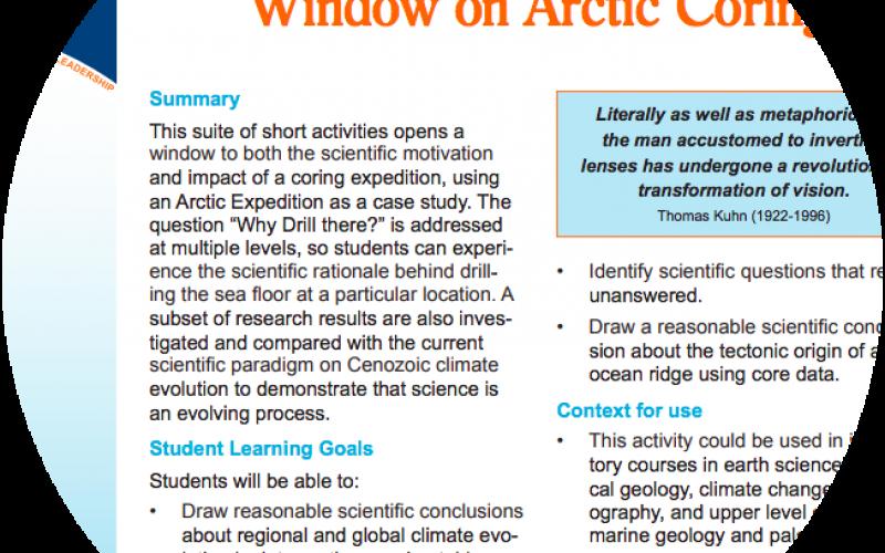 Window on Arctic Coring