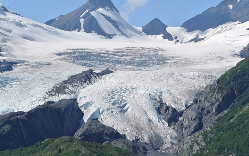 On the way to Valdez we saw…the Worthington Glacier