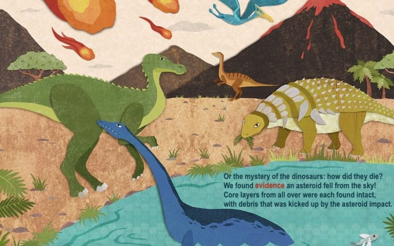 How does ocean drilling help us learn about dinosaurs?