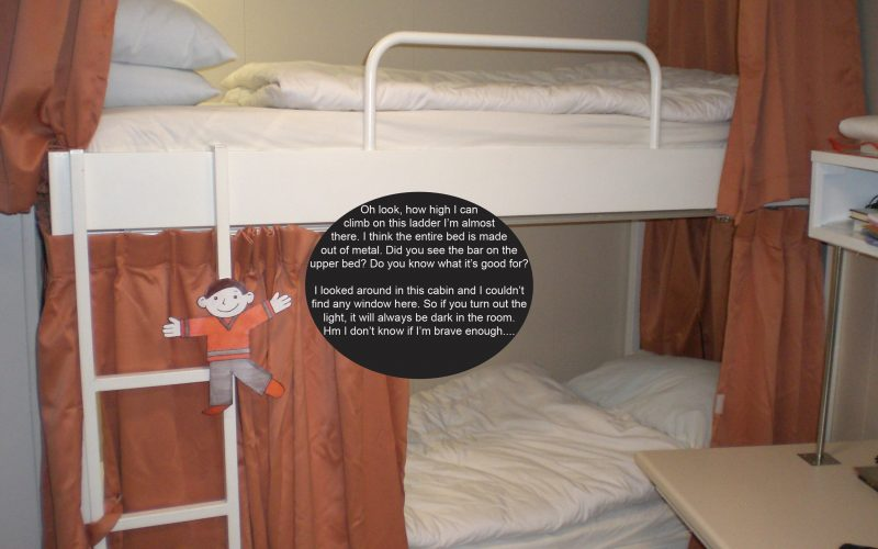 Flat Stanley and the bunk beds