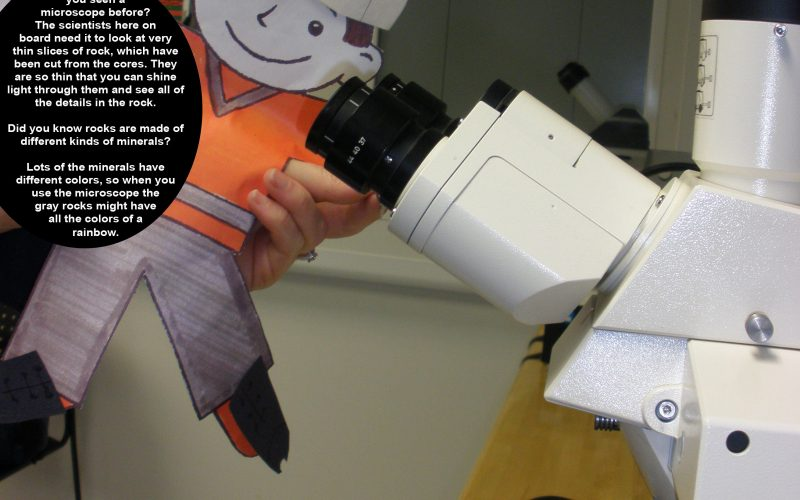 Flat Stanley and the microscope