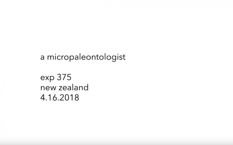 Exp 375 – a micro-paleontologist
