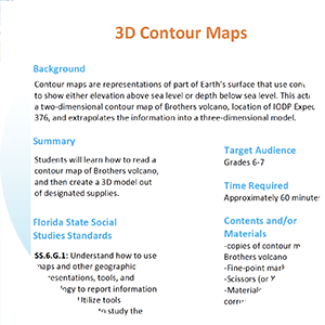 3D contour map activity thumbnail image